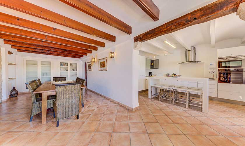 Essplatz und offene Küche Finca Mallorca PM 3535