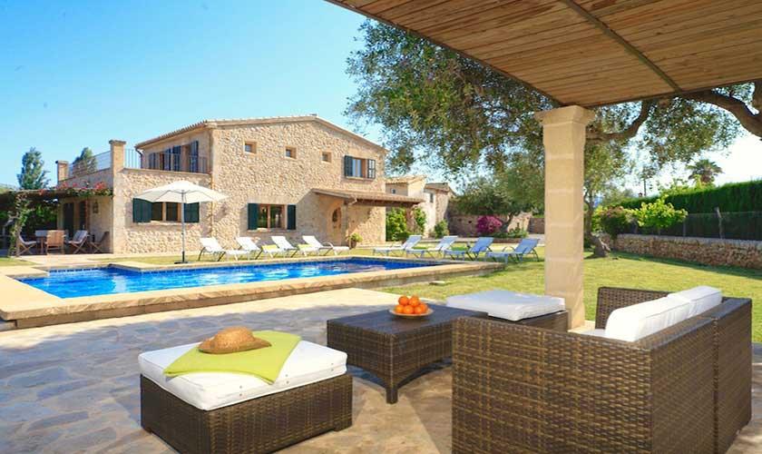 Pool und Loungeterrasse Finca Mallorca Pollensa PM 3536