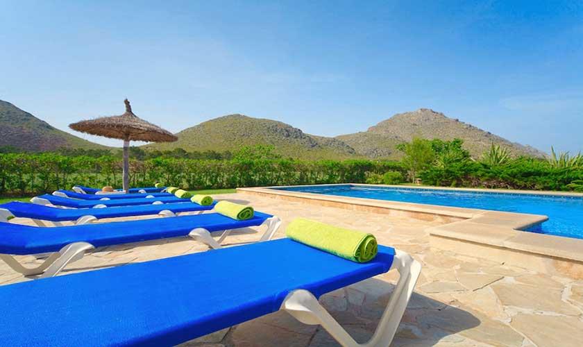Pool und Liegen Finca Mallorca PM 3539