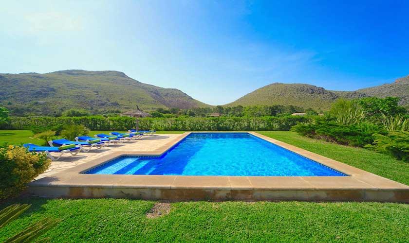 Pool und Landschaft Finca Mallorca PM 3539
