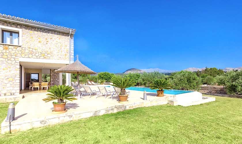 Terrasse und Ferienvilla Mallorca PM 3540