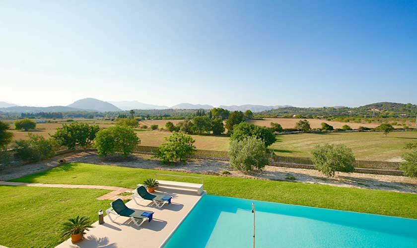 Pool  und Liegen Ferienvilla Mallorca PM 3540