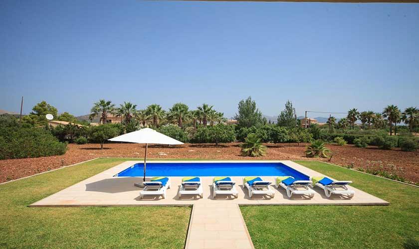 Poolblick Ferienhaus Mallorca PM 3542