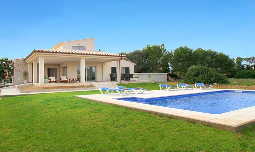 Garten und Pool Ferienhaus Mallorca PM 3542