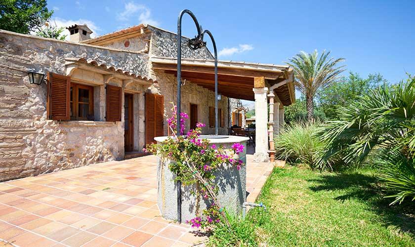 Garten und Terrasse Finca Mallorca 4 Personen PM 3543