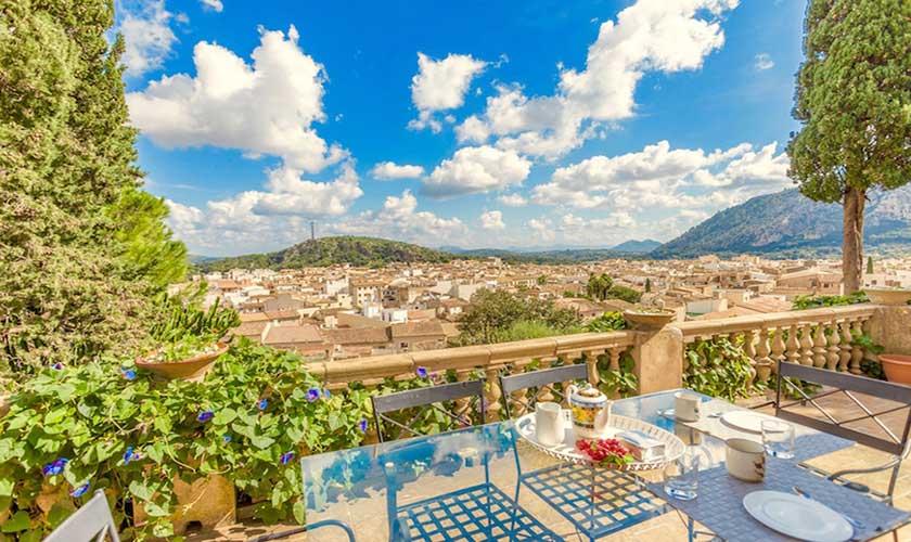 Terrasse und Ferienhaus Mallorca Pollensa PM 3544