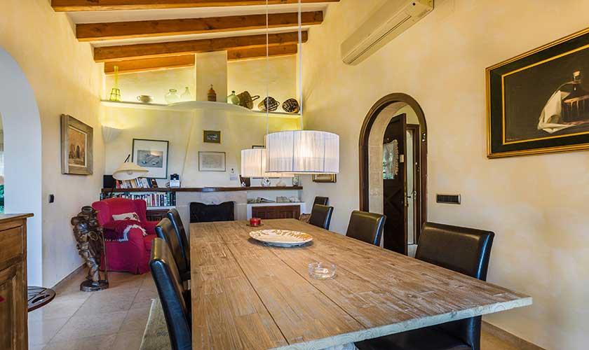 Esstisch Ferienhaus Mallorca Pollensa PM 3544