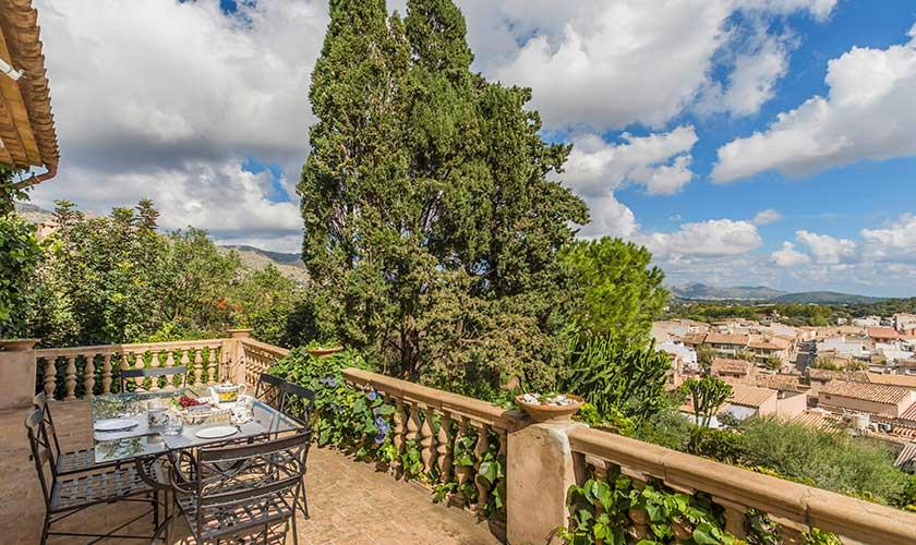 Esstisch im Freien Ferienhaus Mallorca Pollensa PM 3544