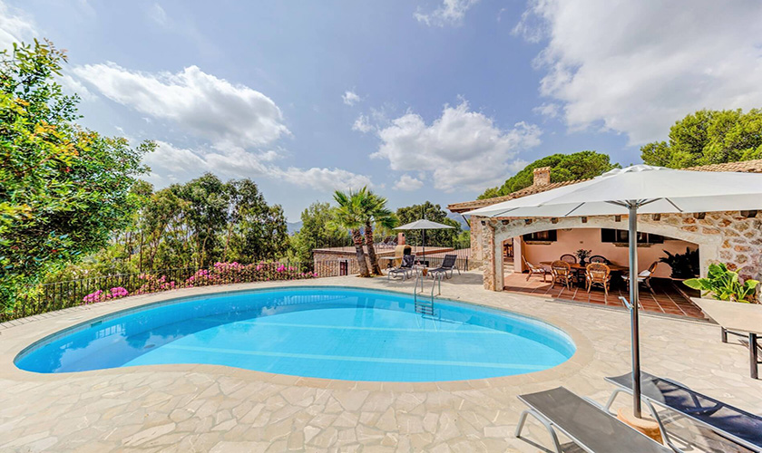 Pool und Ferienvilla Mallorca PM 3545