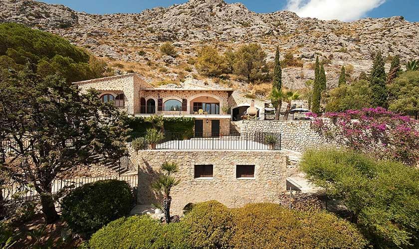 Blick auf die Ferienvilla Mallorca PM 3545