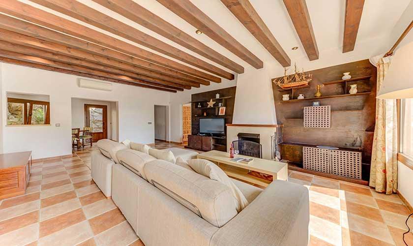Wohnraum Ferienvilla Mallorca PM 3545