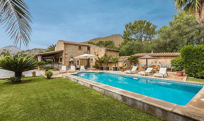 Pool und Garten Finca Mallorca 6 Personen PM 3546