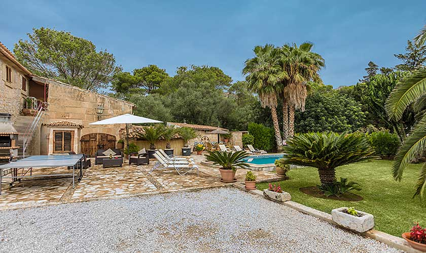 Terrasse und Finca Mallorca 6 Personen PM 3546