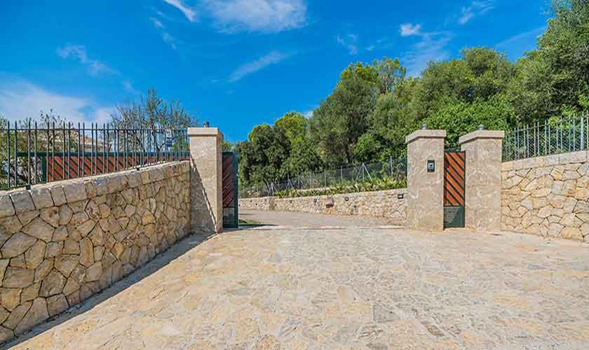 Eingangstor Villa Mallorca 12 Personen PM 3601