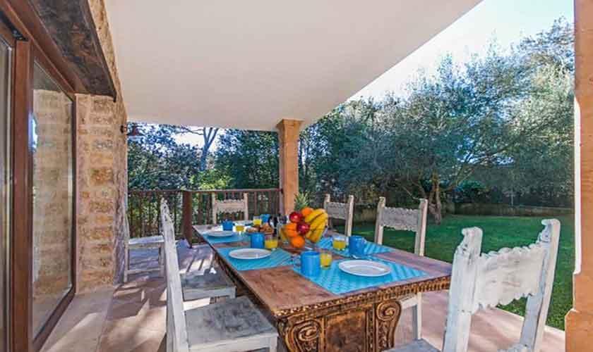 Terrasse Esstisch Ferienhaus Mallorca Norden PM 3650