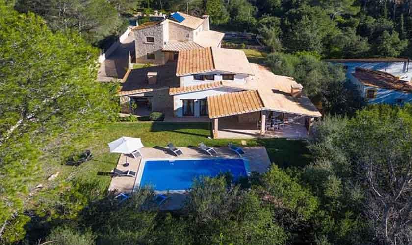 Blick auf das Ferienhaus Mallorca Norden PM 3650