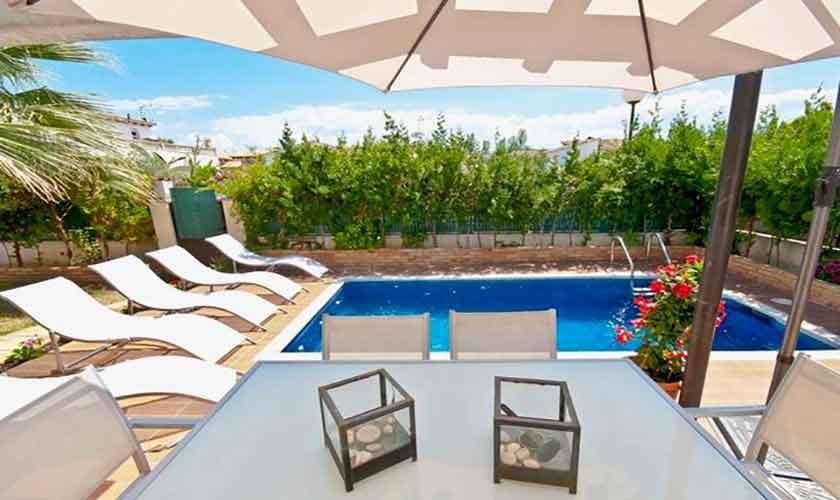 Poolblick Ferienhaus Mallorca Alcudia PM 3651