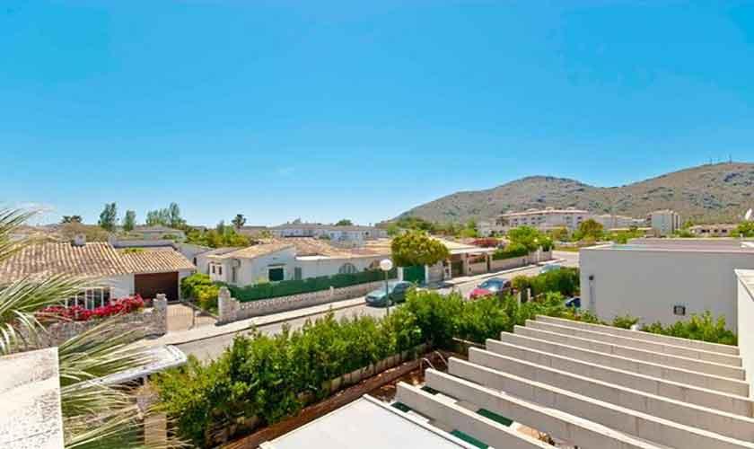 Blick von oben Ferienhaus Mallorca Alcudia PM 3651