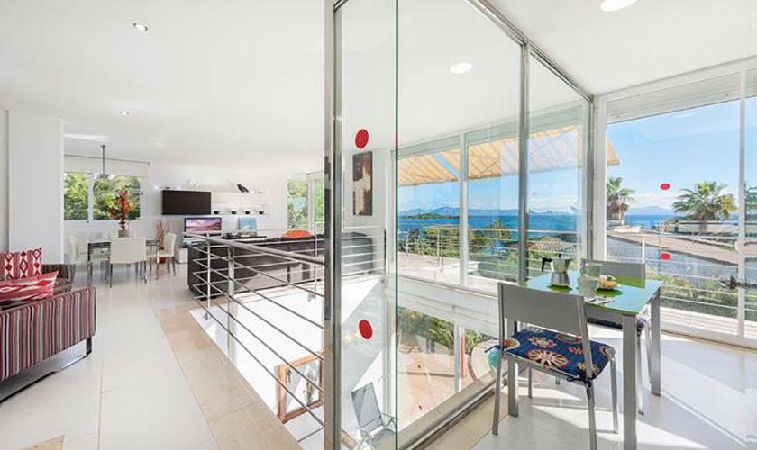 Wohnraum Ferienvilla Mallorca Meerblick PM 3653