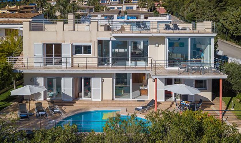 Blick auf die Ferienvilla Mallorca Meerblick PM 3653