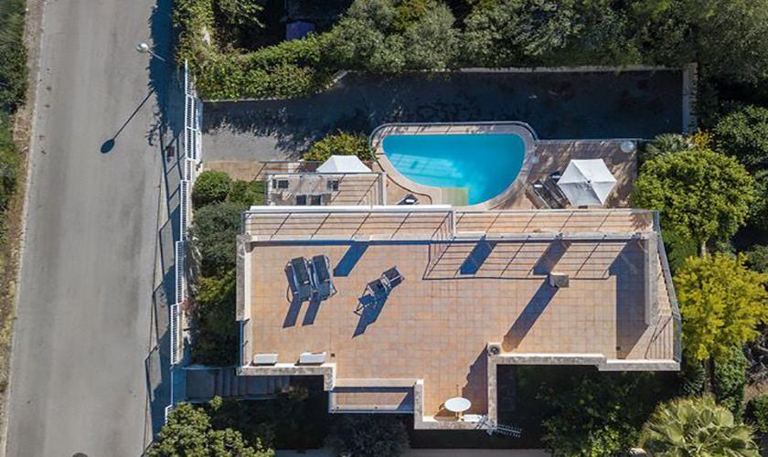 Dachterrasse Ferienvilla Mallorca Meerblick PM 3653