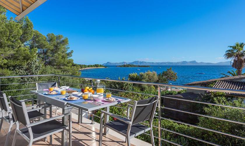 Terrasse Ferienvilla Mallorca Meerblick PM 3653