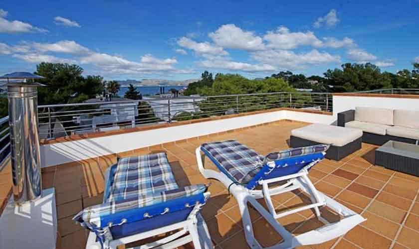 Dachterrasse  Ferienhaus Mallorca Alcudia PM 3654