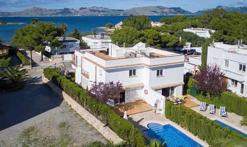 Blick auf das Ferienhaus Mallorca Alcudia PM 3654