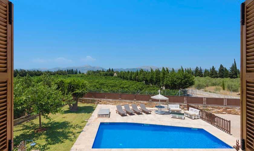 Blick von oben Finca Mallorca bei Muro PM 3657