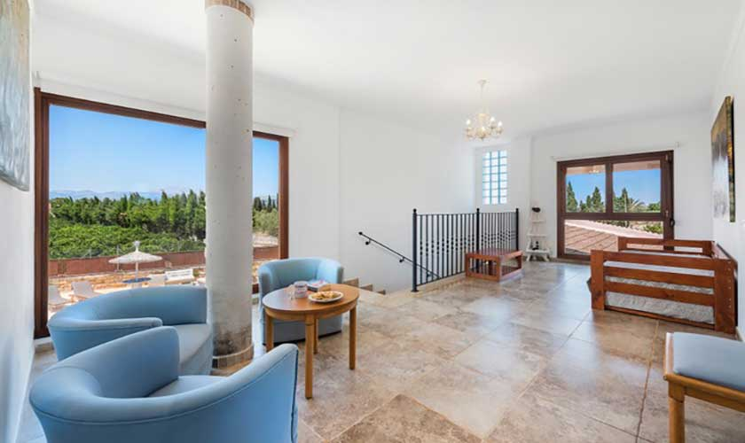 Wohnraum oben Finca Mallorca bei Muro PM 3657