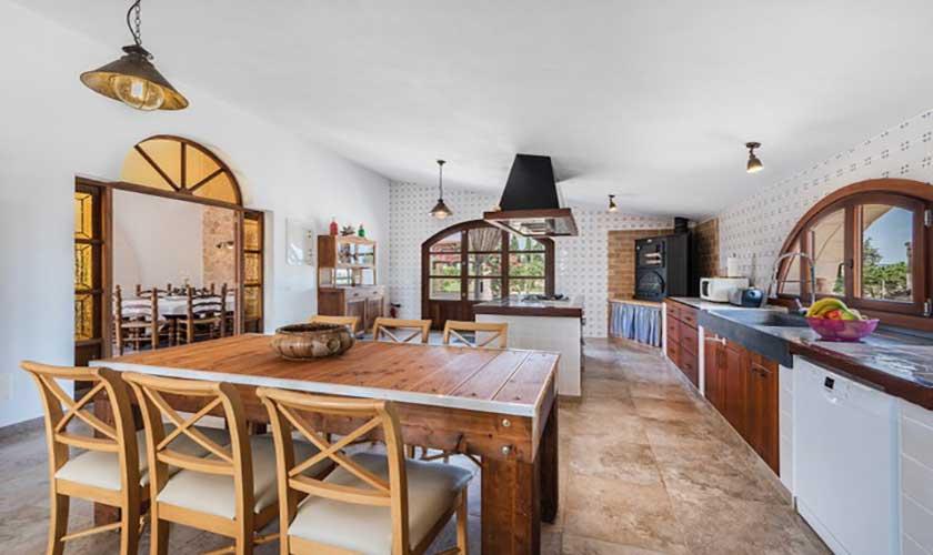 Essplatz Küche Finca Mallorca bei Muro PM 3657