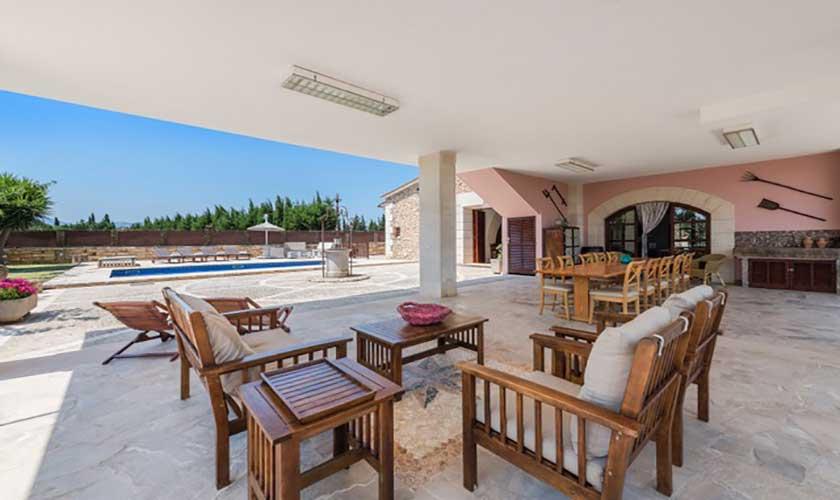 Terrasse Finca Mallorca bei Muro PM 3657