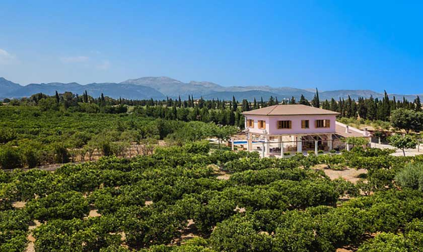 Blick auf die Finca Mallorca bei Muro PM 3657
