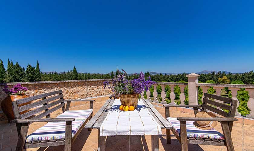 Terrasse oben Finca Mallorca PM 3660
