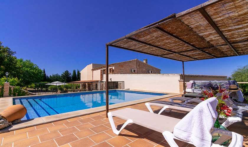 Pool und Liegen Finca Mallorca PM 3660