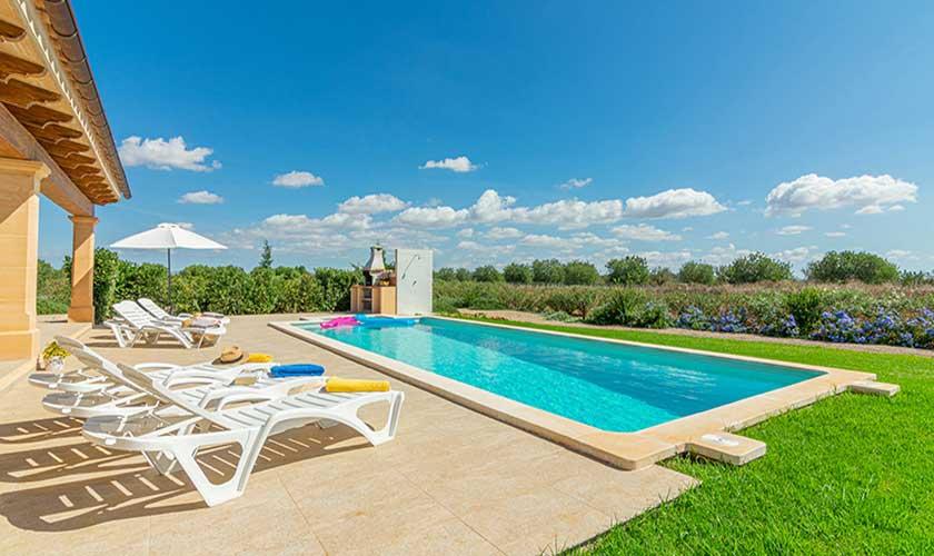 Pool und Terrasse Finca Mallorca PM 3702