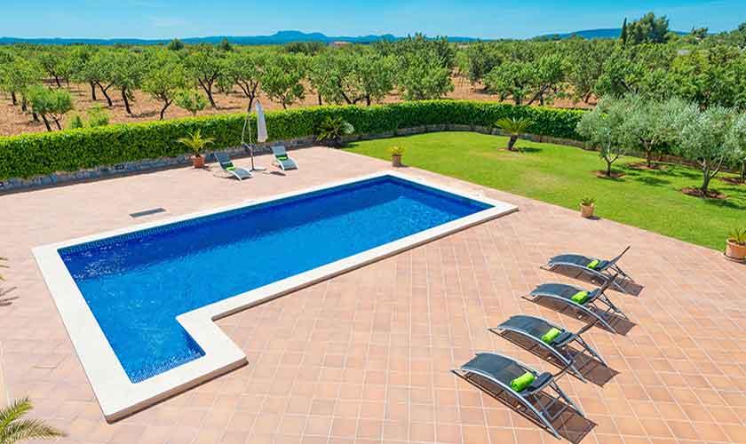 Poolblick Finca Mallorca PM 3705
