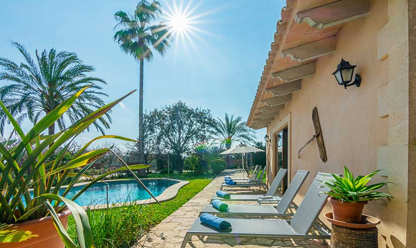 Pool und Terrasse Finca Vera Mallorca PM 3710