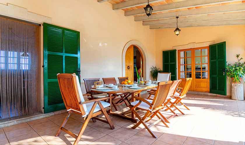 Esstisch Terrasse Finca Vera Mallorca PM 3710