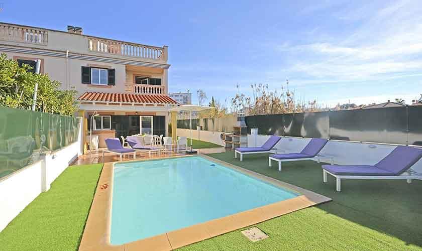 Pool und Ferienhaus Mallorca Port Alcudia PM 3714
