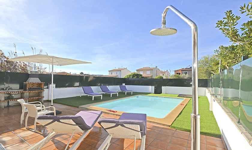 Pool Ferienhaus Mallorca Port Alcudia PM 3714
