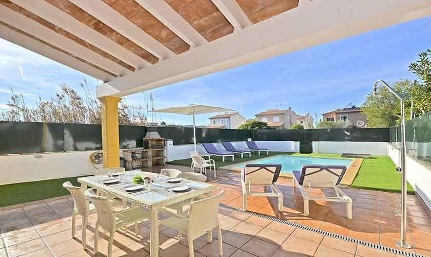 Terrasse Ferienhaus Mallorca Port Alcudia PM 3714