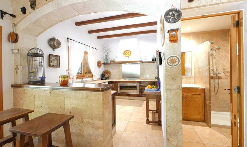 Küche Finca Mallorca Nordküste PM 3730