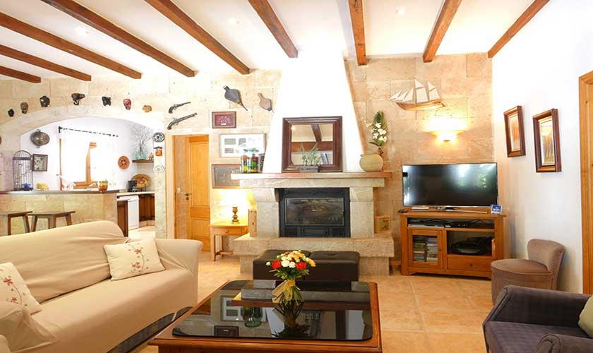 Wohnraum Finca Mallorca Nordküste PM 3730