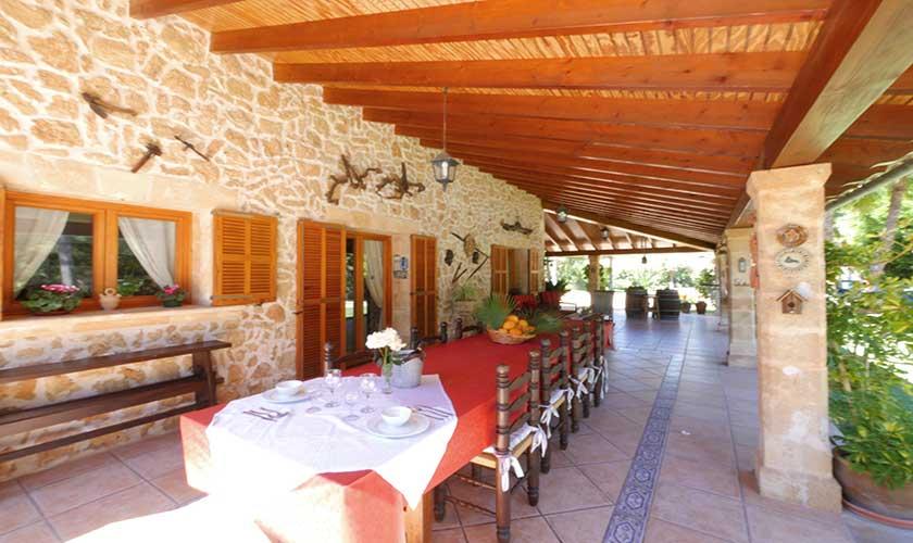 Terrasse Finca Mallorca Nordküste PM 3730