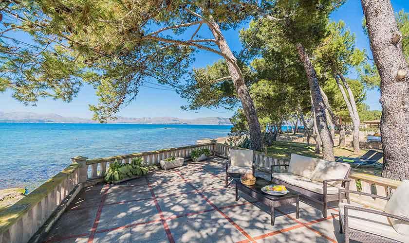 Terrasse und Meerblick Ferienhaus Mallorca Norden PM 3735