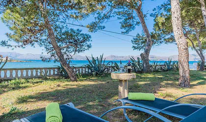 Meerblick und Terrasse Ferienhaus Mallorca Norden PM 3735