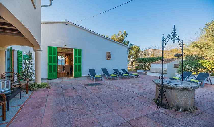 Blick auf das Ferienhaus Mallorca Norden PM 3735