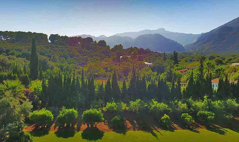 Ausblick von der Finca Mallorca Norden PM 3760