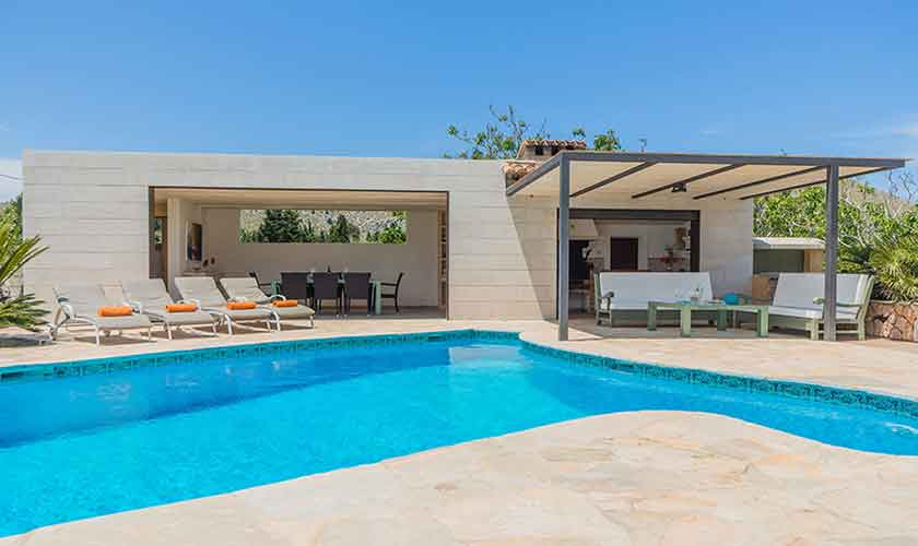 Pool und Finca Mallorca Norden PM 3781